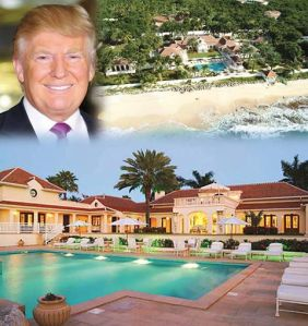 Image result for Trump's vacation home, Le Chateau des Palmiers on the island of St. Martin